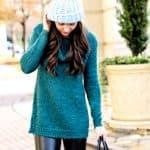 Cozy Sweater + Faux Leather Leggings