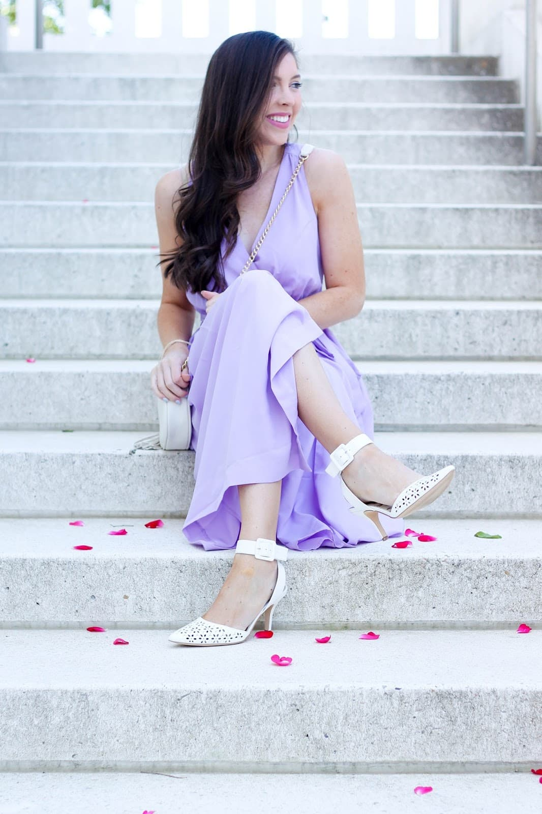 Lilac Midi Dress for Spring & Summer