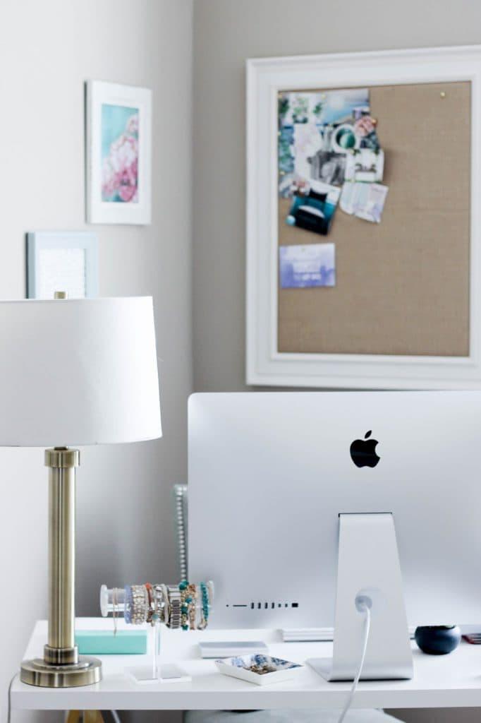 Desk Decor, Cute Office, Inexpensive Desk, Ikea Hack, Linnmon Table From  Ikea