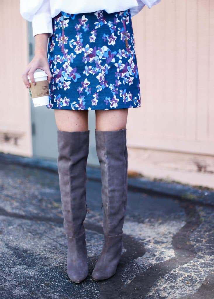 Little Floral Skirt & The Best OTK 30% off Boots