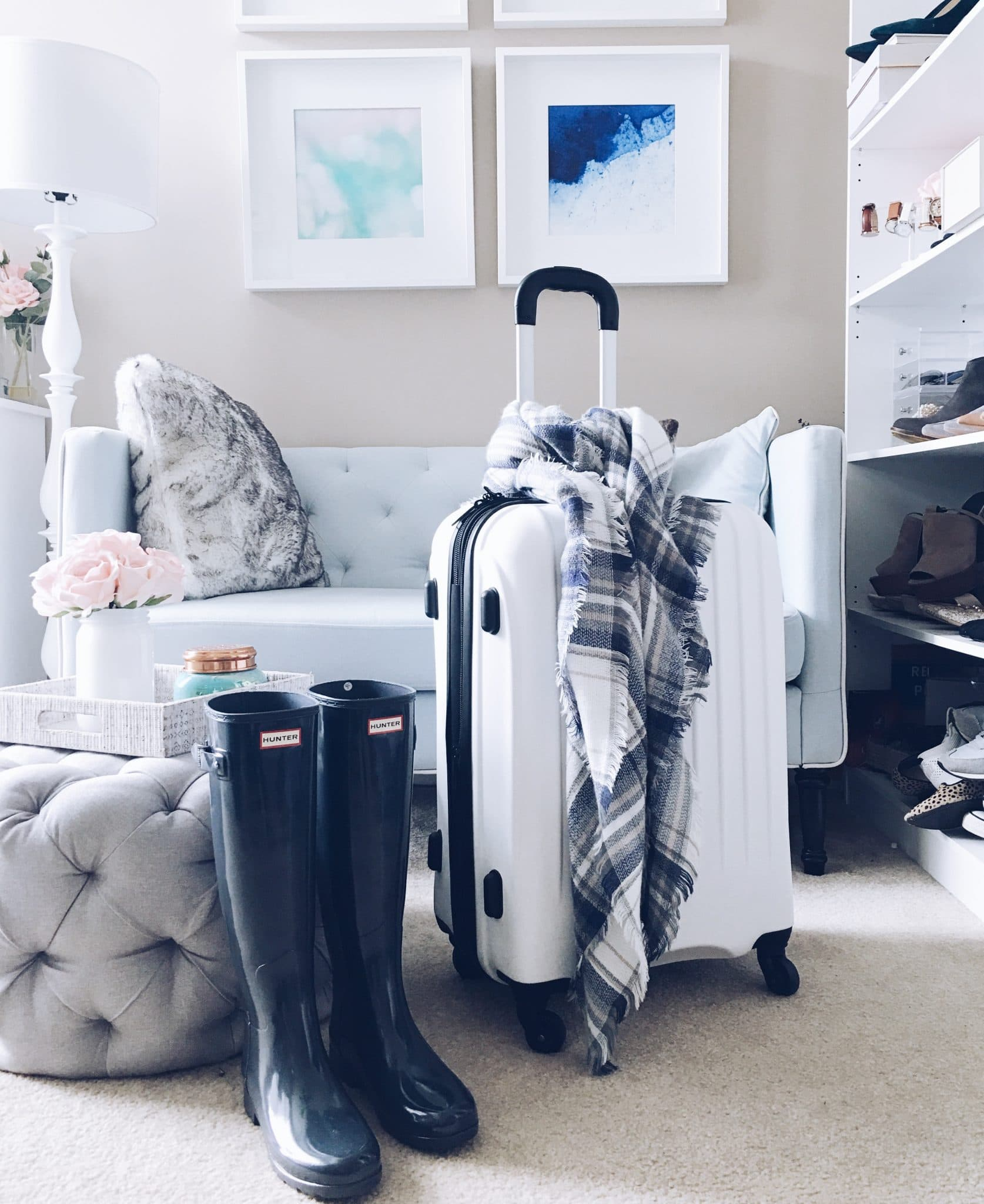 luggage travel photo, pretty in the pines blog