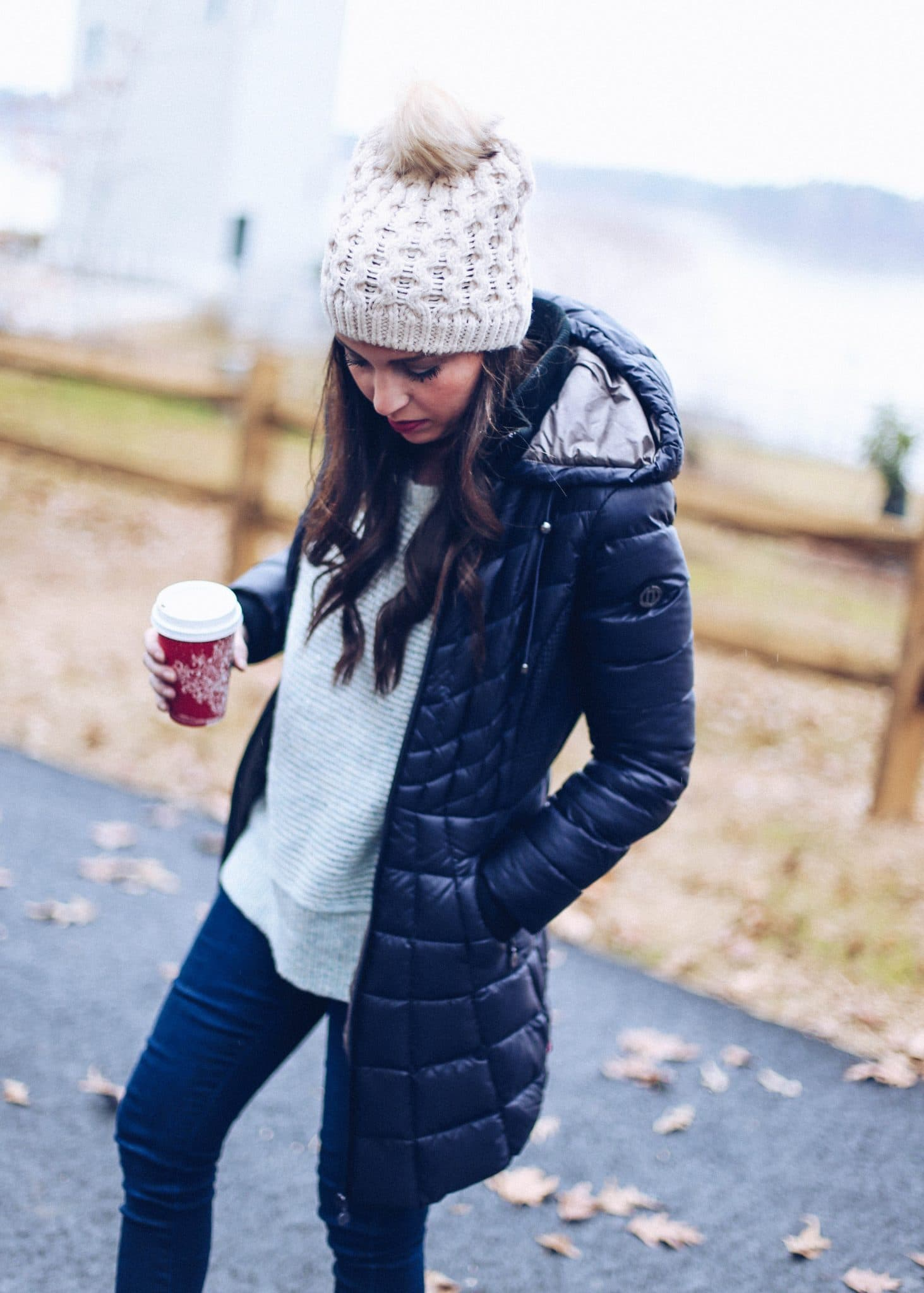 bernardo outerwear, best winter coat, puffer coat women, black nordstrom down coat, pretty in the pines, fashion lifestyle north carolina blog, winter outfit idea