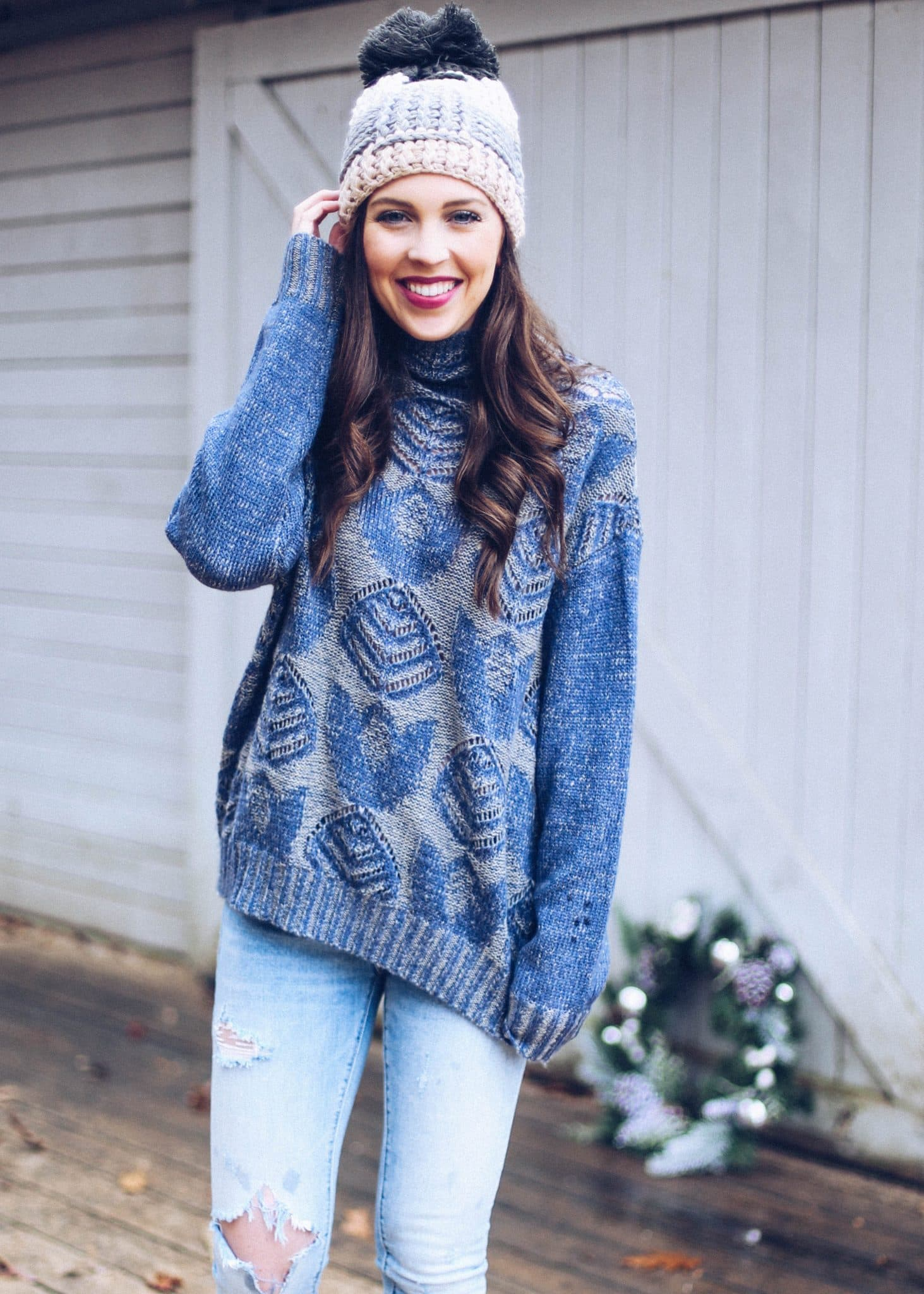 anthropologie sweater, pretty in the pines, anthropologie raleigh, nc fashion lifestyle blog, holiday giveaway, twelve days of christmas