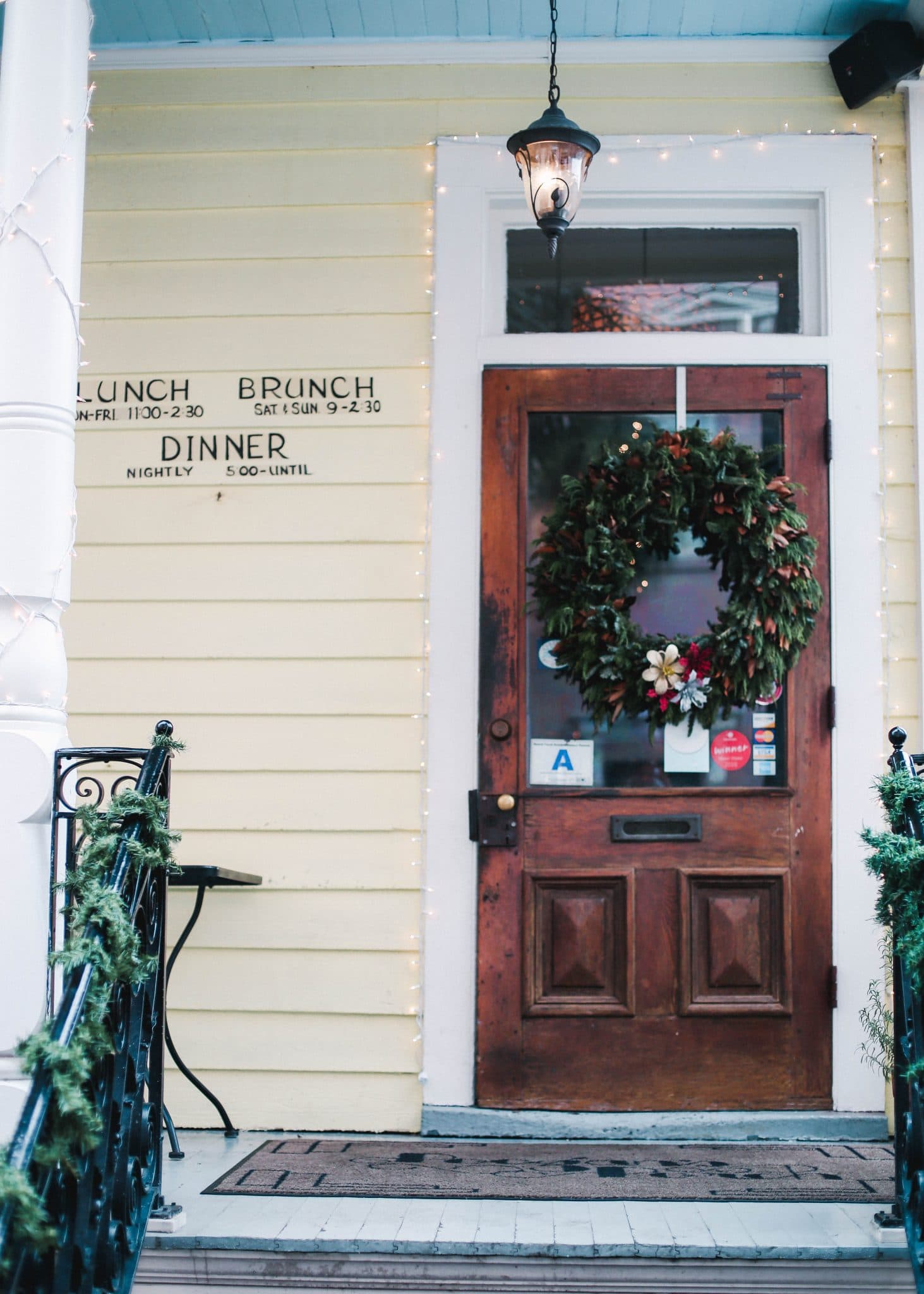 poogan's porch, charleston restaurant, pretty in the pines blog