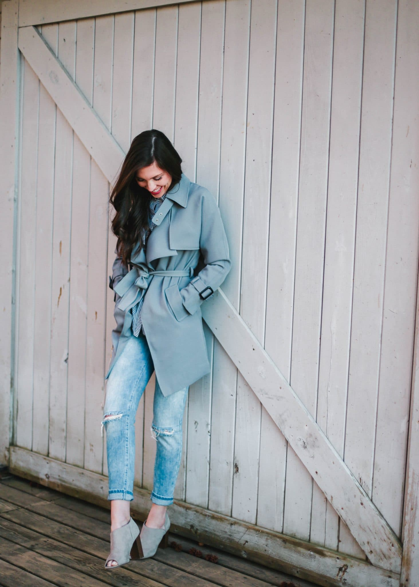 chicwish trench coat women, pretty in the pines north carolina fashion style blog, spring outerwear