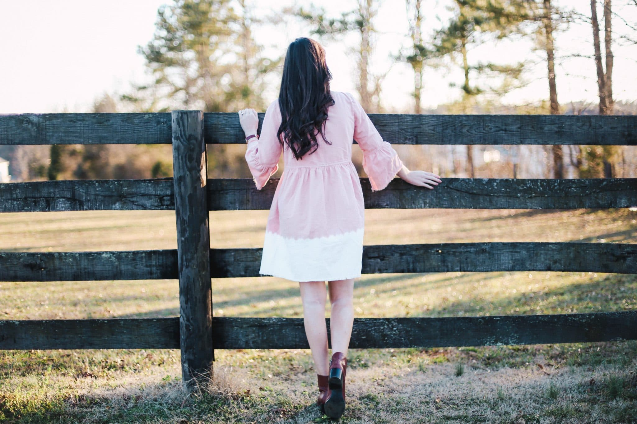 Lilibet Anthropologie Dress Pink, Pretty in the Pines Blog