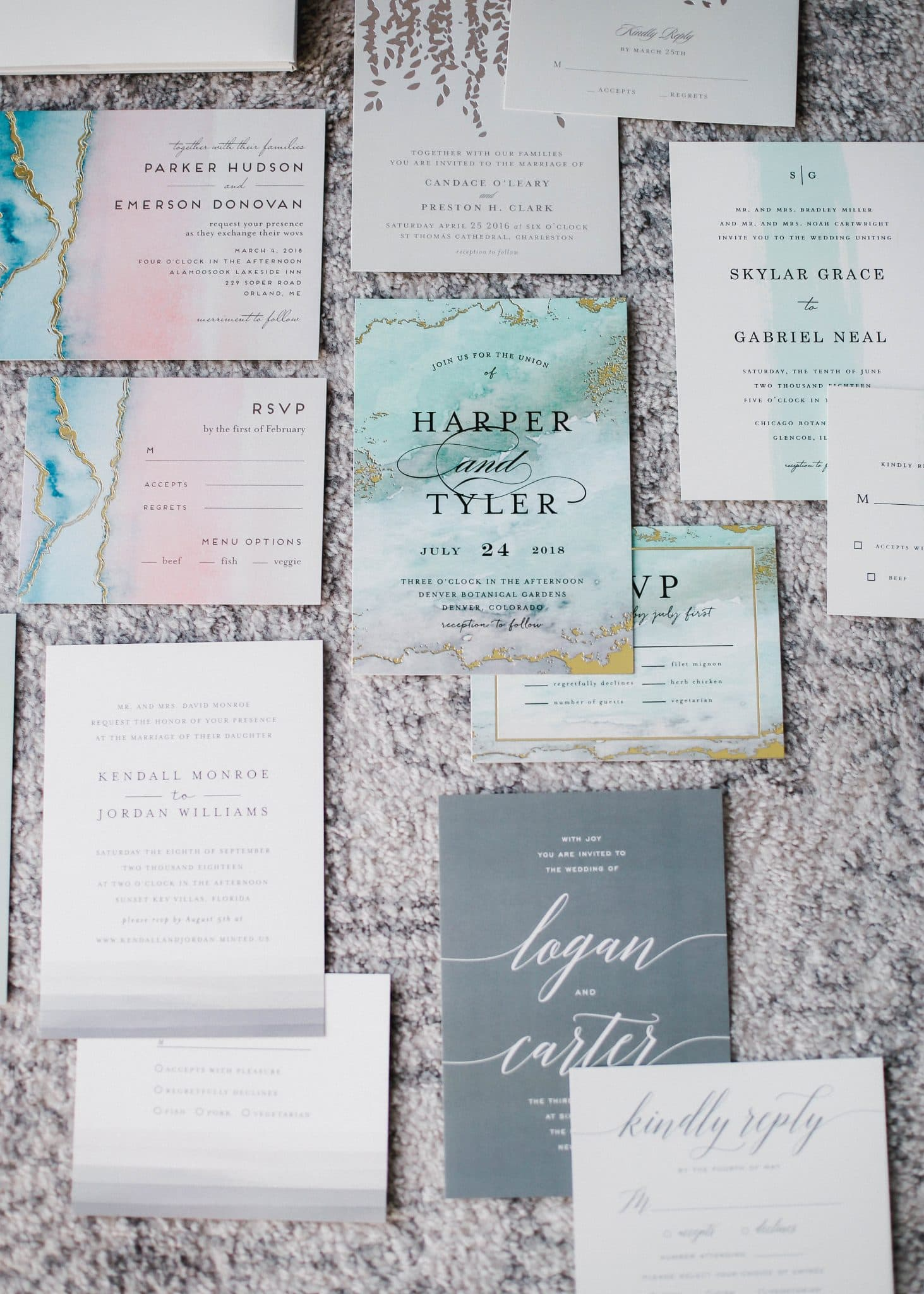 Minted Wedding Invitations, Pretty in the Pines Lifestyle Blog
