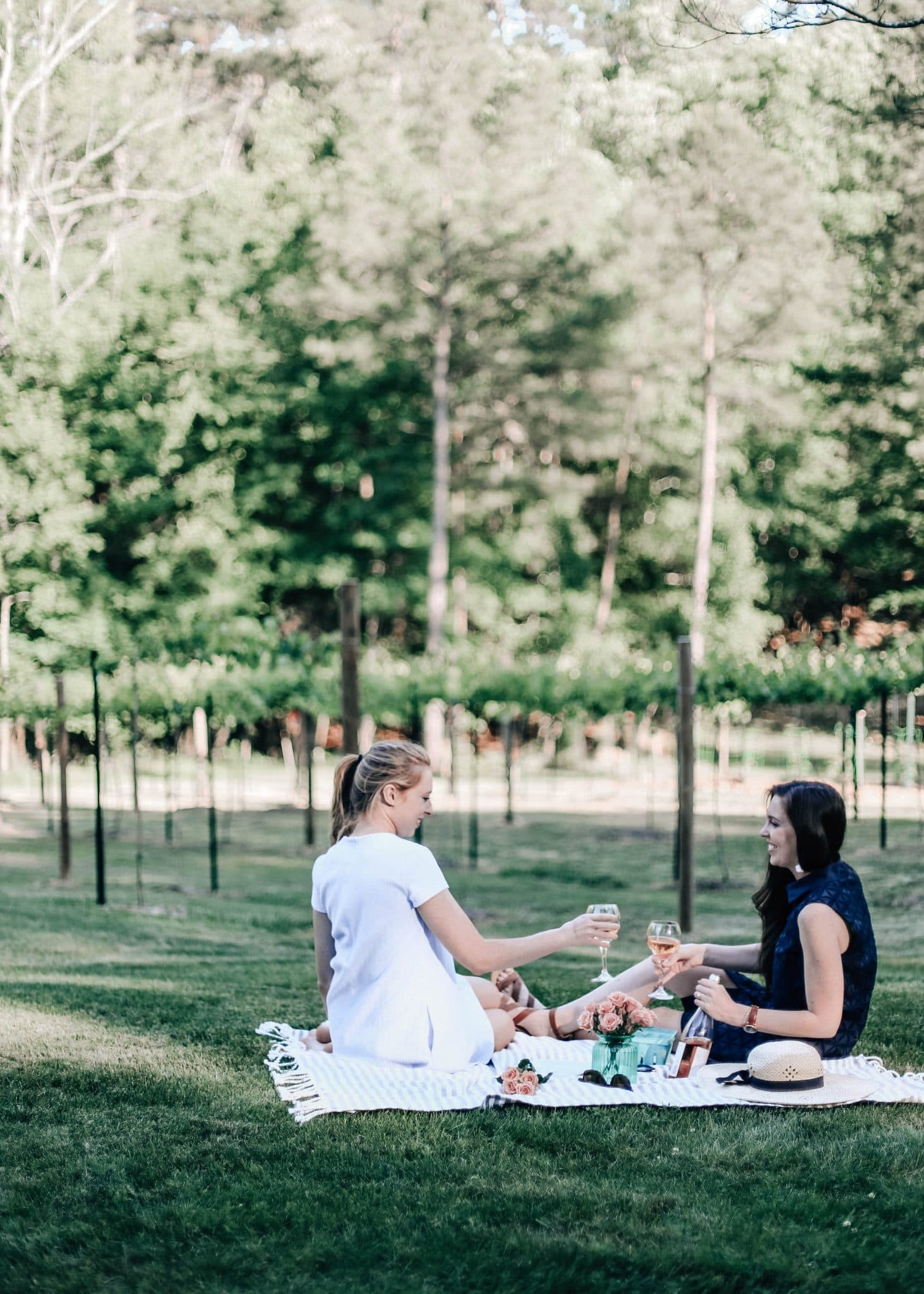 jadot rose, summer picnic photography, pretty in the pines, nc blogger