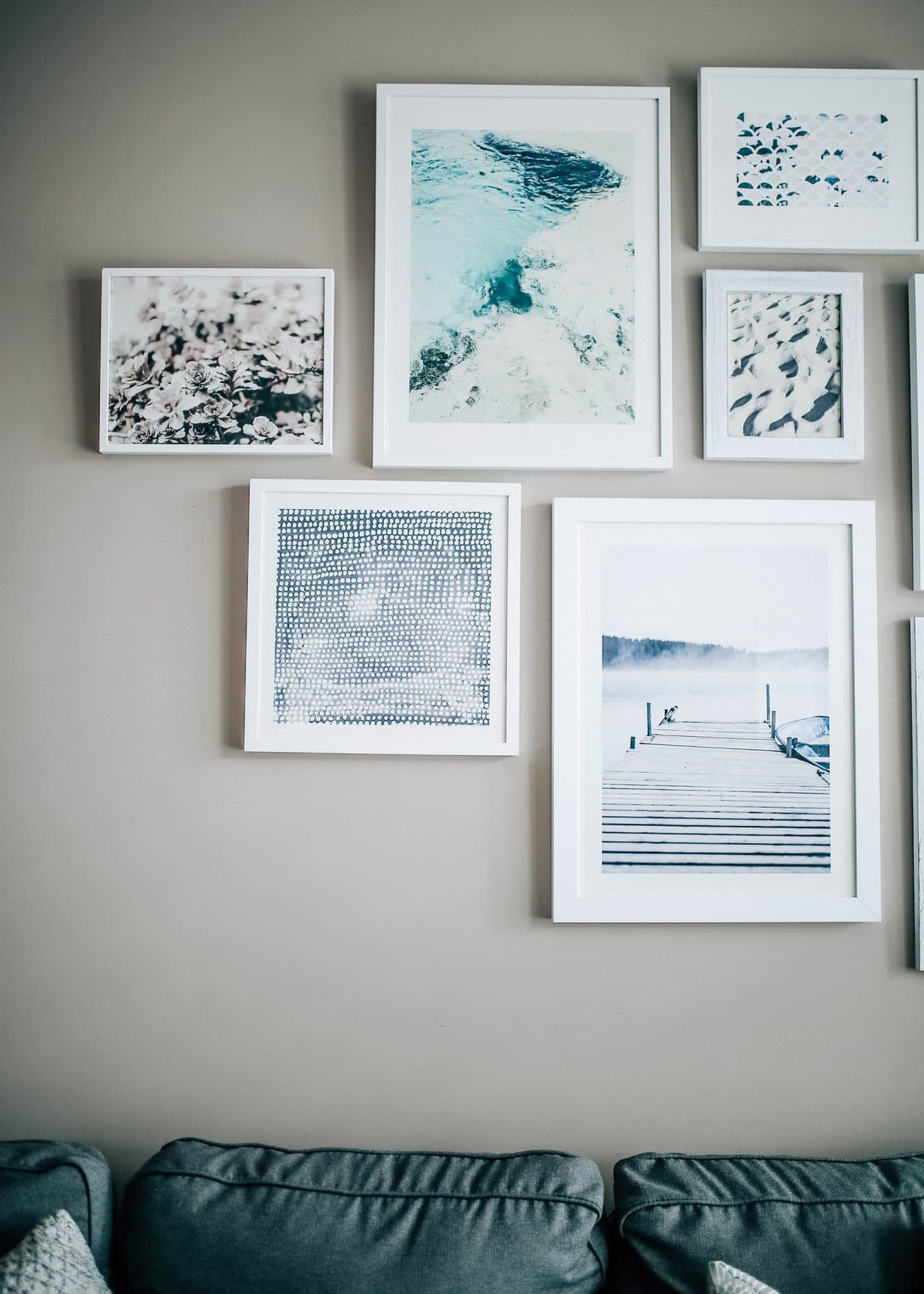 Q: How did you design, create, and hang your gallery wall?