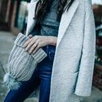 textured slim coat asos, pretty in the pines blog