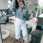 blue wide leg jeans topshop