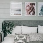 pretty in the pines diy shiplap wall framed art bedroom