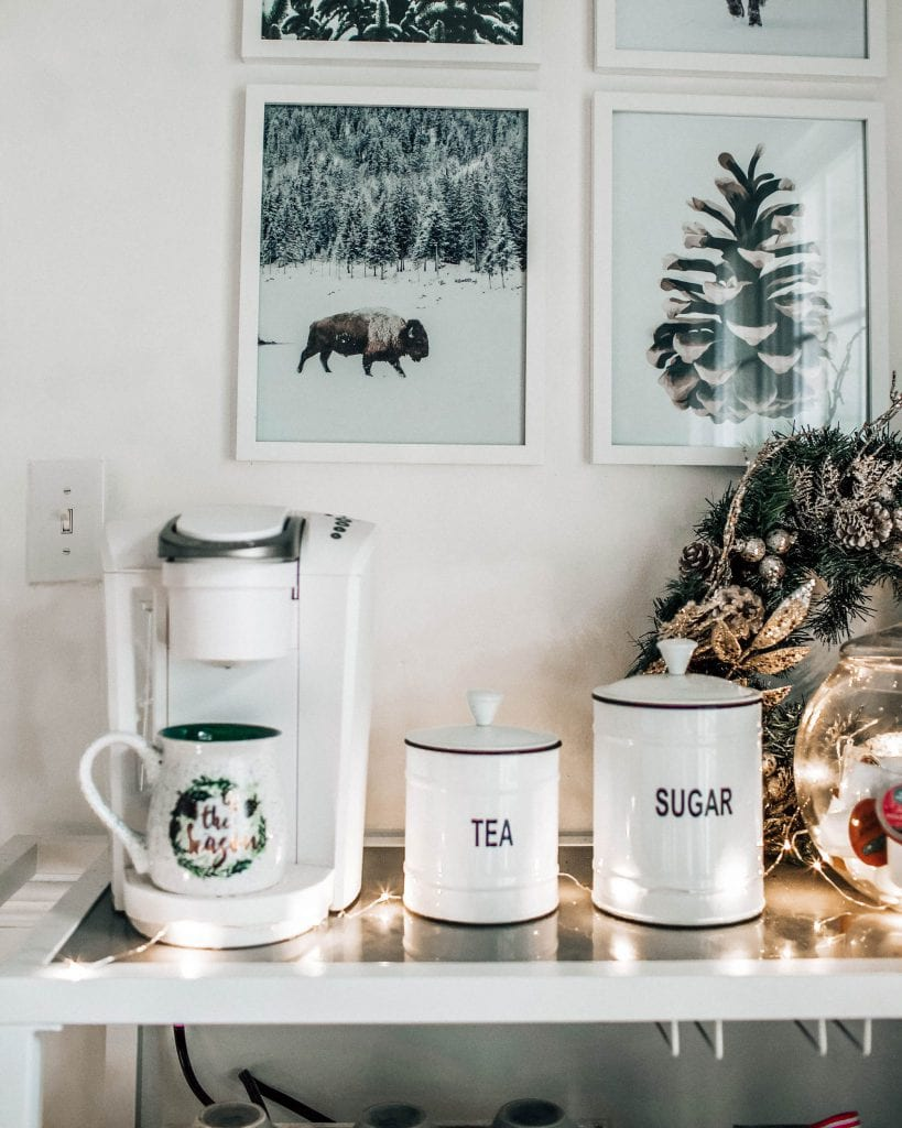 A Holiday Coffee Cart