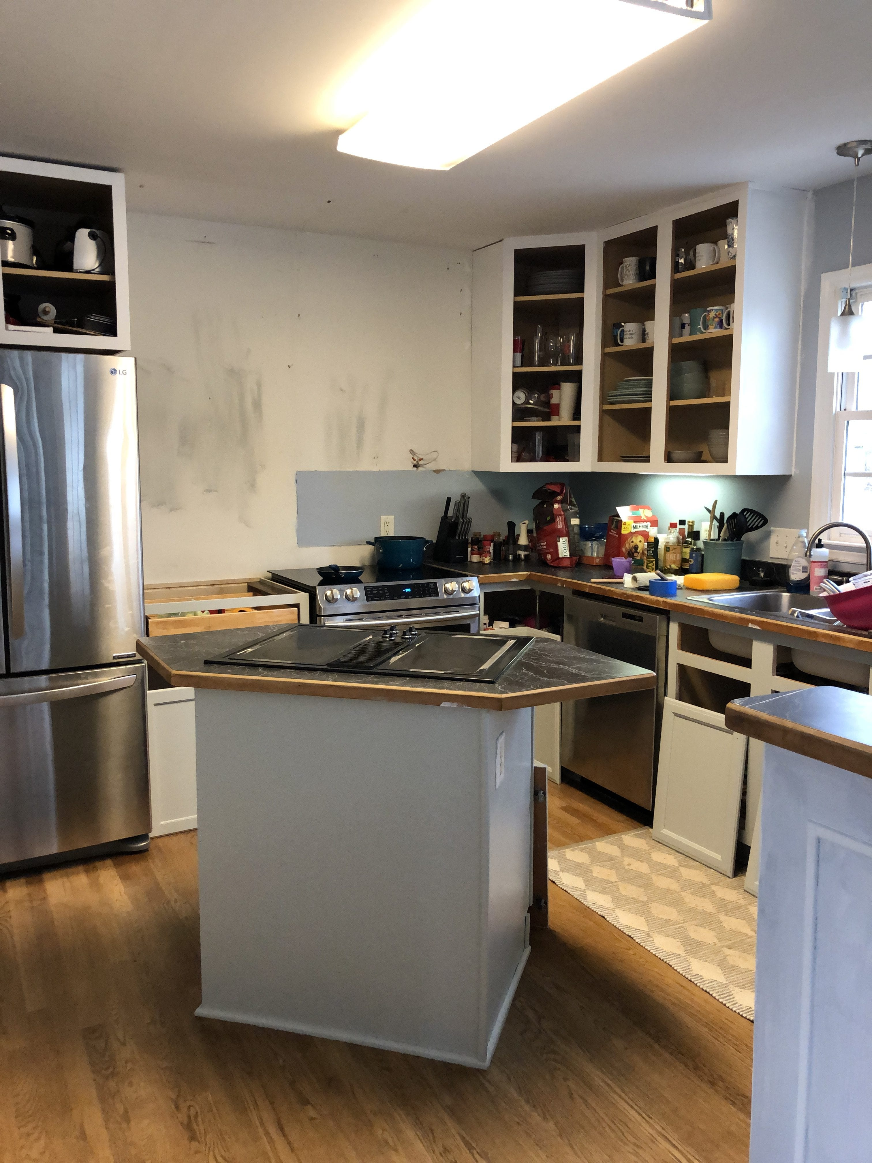 Painting Kitchen Cabinets Yourself - Pretty in the Pines ...