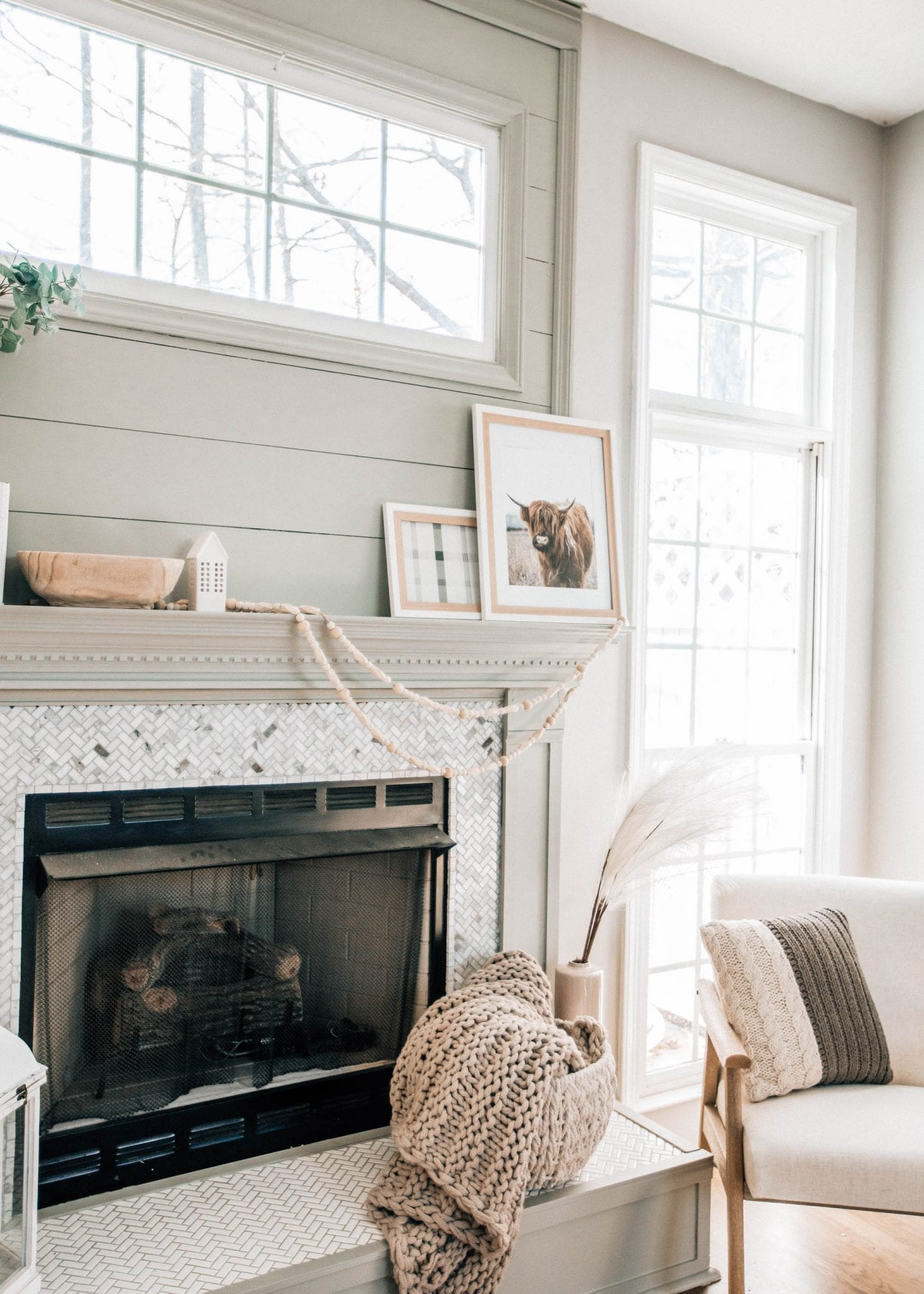 Refreshing Our Fireplace & Mantle